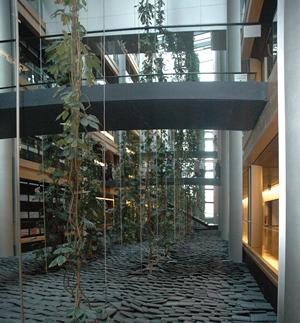 Interior del edificio del Parlamento Europeo en Estrasburgo