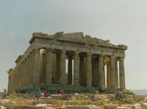 Partenón. Fotografía del autor, tomada en 1991