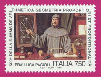 Sello sobre Fray Luca Pacioli