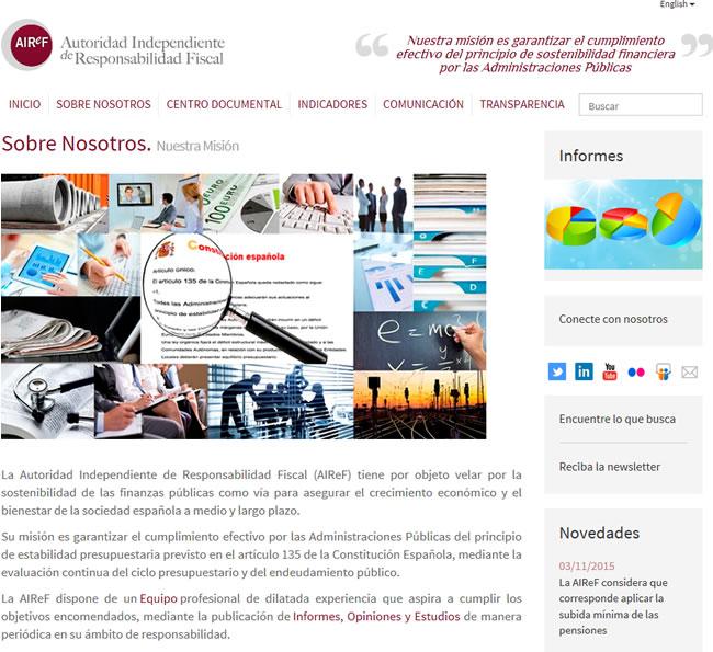Página web de la AIReF