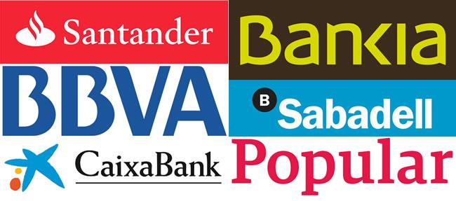 Logo de 6 entidades bancarias