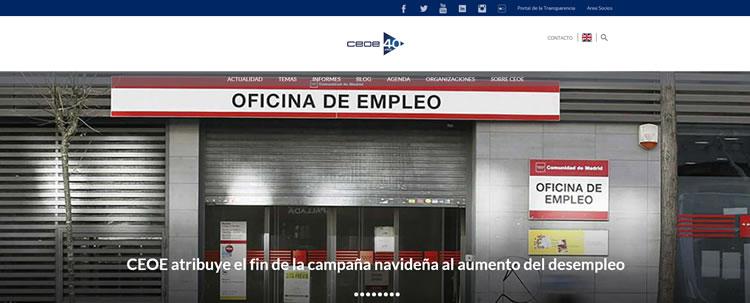 Web de la CEOE